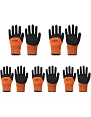 Safety garden gloves for women-Work Gloves with latex coated- Breathable rubber coated gardening gloves-Outdoor protective Working gloves large size-Mechanic gloves construction gloves for men