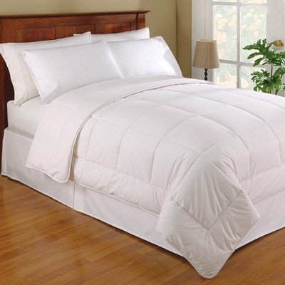 Fresh Ideas Australian Wool Filled Cotton Comforter Moisture Wicking Hypoallergenic, ()