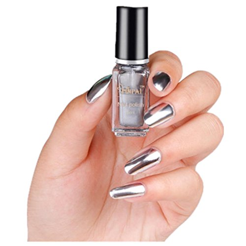 Shifter Chrome Ball - Women's Mirror Nail Polish, Iuhan Mirror Nail Polish Plating Silver Paste Metal Color Stainless Steel (A)