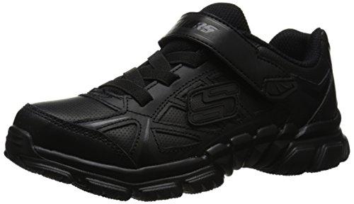 [Skechers Kids Tough Trax School Shoe ,Black,5 M US Big Kid] (Black Kids Shoes)