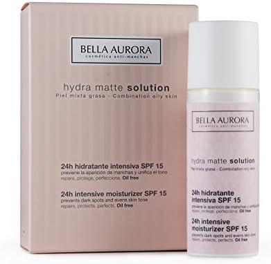 BELLA AURORA Hydra matte crema hidratante intensiva spf 15 tarro 50 ml: Amazon.es