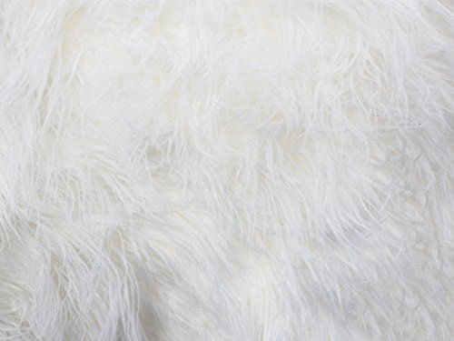 Fake Fur Fabric - Faux/Fake Fur Mongolian Fabric Sold by The Yard, White