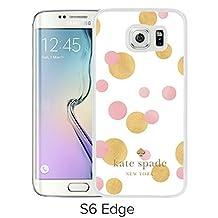 Fashionable Samsung Galaxy S6 Edge Case Design with Kate Spade 18 White Skin