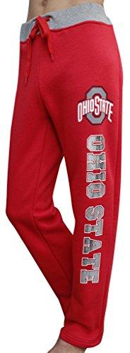 Golden Zone Women's Ohio State Buckeyes Sporty Sweatpants Pajamas Trousers - Red (Size: M) (Ohio State Pajama)