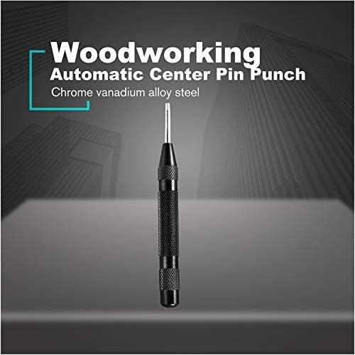 5  Automatic Center Pin Punch Strike Federbelastete Center Punch Kennzeichnung Startl/öcher Tool Impact Hole Breaker Schwarz