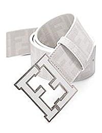 Men's Fendi Zucca white Belt