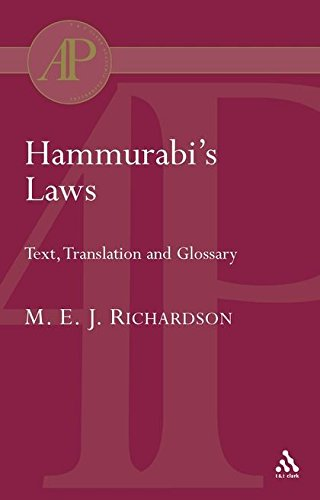 Hammurabi's Laws: Text, Translation and Glossary (Academic Paperback)