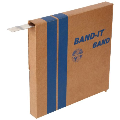 "BAND-IT C20599 201 Stainless Steel Bright Annealed Finish Band, 5/8"" Width X 0.030"" Thick, 100 Feet Roll"