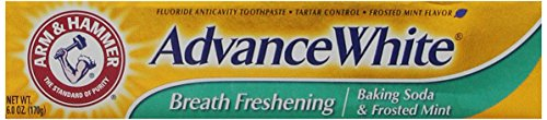 Arm & Hammer Toothpaste Advance White, Baking Soda & Frosted Mint Flavor, 6 Oz (Pack of 3)