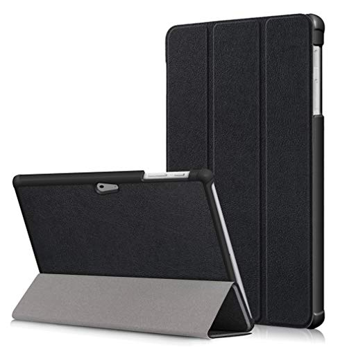 For Pattern Ultra Inch Lmfulm Retro Flip Stent thin Black Folding Pu Function Of Bookstyle Tower Go Holster Case 10 Surface Closure Microsoft Cover Leather Magnetic T4Tqwr5Y