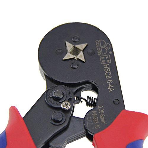 Alicates de crimpado Domeilleur HSC8 6-4A autoajustables, con trinquete