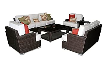 Amazon.com  Patio Heaven SB-30-SET-5413 Signature Deep Seating Group with Cushions in Canvas Fabric Spa  Home Improvement  sc 1 st  Amazon.com & Amazon.com : Patio Heaven SB-30-SET-5413 Signature Deep Seating ...