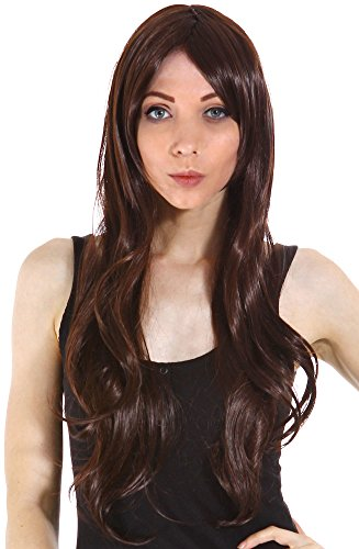 Simplicity Women Wigs Long Curly Full Wig Wavy Cosplay Party Wigs, Light Brown