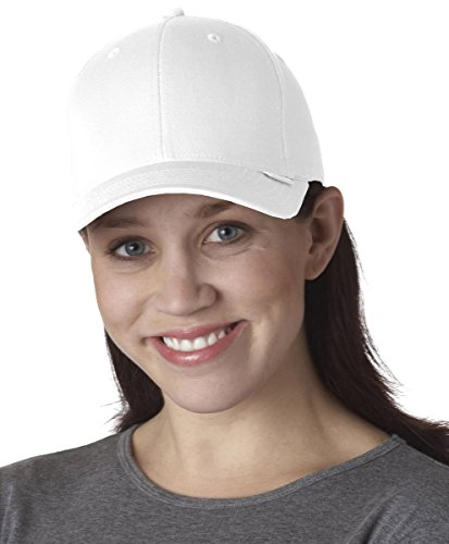 Flexfit/Yupoong 5001 V-Flexfit Cotton Twill Hat Cap (Large/X-Large, White) Yupoong Flex Fit Cap