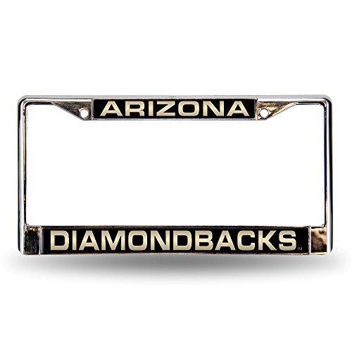 (MLB Arizona Diamondbacks Laser-Cut Chrome Auto License Plate Frame)
