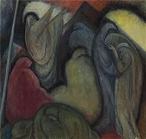 Oil painting 'Albert Bloch,Klagelied,1912-1913' printing on Cotton Canvas , 30x32 inch / 76x80 cm ,the best Powder Room artwork and Home gallery art and Gifts is this High quality Art Decorative Canvas Prints