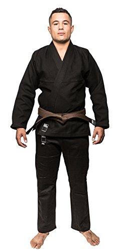 空白Kimonosゴールド織りBJJ Gi – ブラック  A1