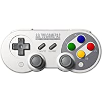 8Bitdo SF30 Pro Controller, Wireless Game Controller with Joysticks Rumble Vibration USB-C Cable Gamepad for Switch, Mac, Android and Windows Devices