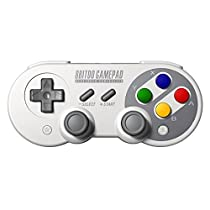 8Bitdo Wireless Gamepad Compatible for 8Bitdo Game Controller Pro with Joysticks Rumble Vibration USB-C Cable Gamepad for Mac, Android and Windows Devices (SF30 PRO)