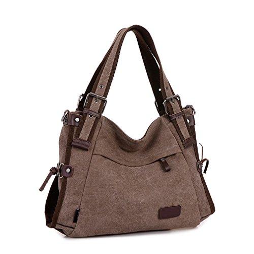 Leather Vintage Tote Top Shoulder Women's Purse handle Body Hobo Handbag Canvas Cross Bag Brown TianHengYi atqSnwHH