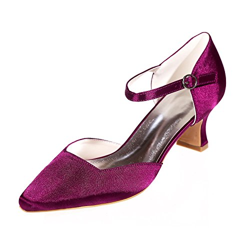 L@YC Frauen Hochzeit Seide 0723-07 Pointy / Party Night & More Verfügbar Farbanpassung Purple