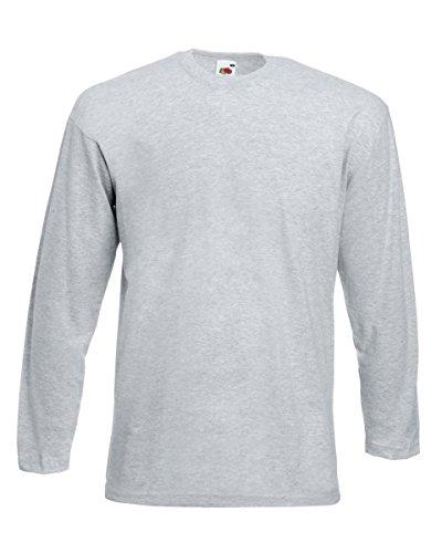 Fruit of the Loom - Camiseta de manga larga - para mujer gris