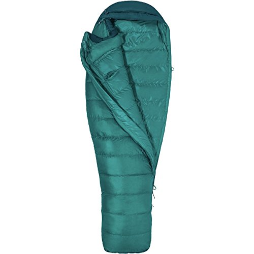 Marmot Angel Fire Sleeping Bag: 25 Degree Down - Women's Malachite/Deep Teal, Reg/Left Zip (Bag Sleeping Marmot Womens)