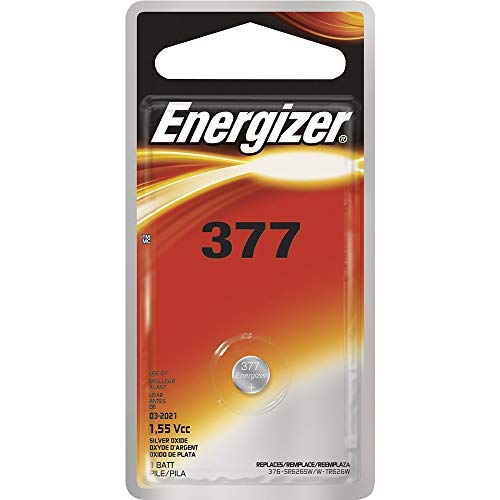 376 Energizer Watch Batteries - Energizer 377 1.55 Vcc Silver Oxide Battery (Value Pack of 25)