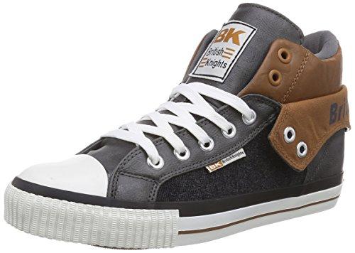 British Knights Roco - zapatillas deportivas altas de material sintético hombre gris - Grau (DK Grey-Cognac 03)