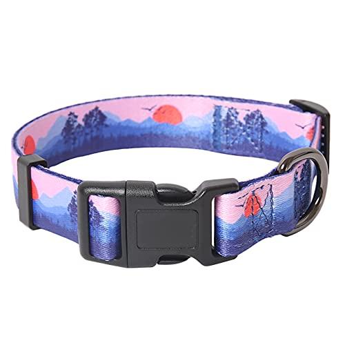 collar para perro ajustable broche metal purple talle s