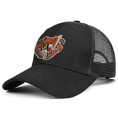 Unisex Stylish Mesh Trucker Cap-Baseball Crab Maryland Crest Style Adjustable Fits Travel Sunscreen Hat Outdoors