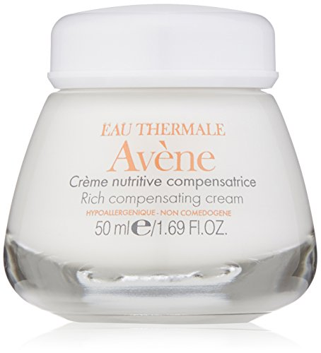 Eau Thermale Avene Rich Compensating Cream, Nourishing Face Moisturizer, Non-Comedogenic, 1.6 oz.