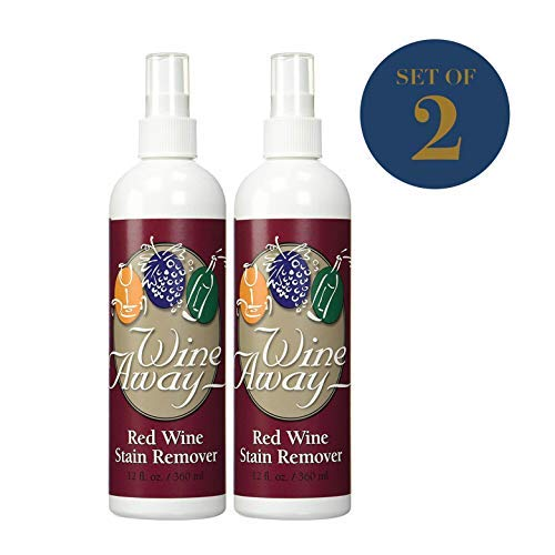 Wine Away Red Wine Stain Remover - Removes Wine Spots - Perfect Fabric Upholstery and Carpet Cleaner Spray Solution - Spray on Stain Wash and Laundry to Vanish Stain - Zero Odor - 12-Ounces, Set of 2 (Best Wine Stain Remover)