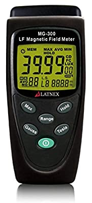 MG-300 Easy to Operate Digital ELF Gauss EMF Meter Detector-Measuring Radiation from High Voltage Power Lines-Appliances- Electrical Wires-Calibrated-Used for EMF Home Inspections-Units mgauss-tesla