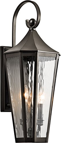 Kichler 49513OZ Rochdale Outdoor Wall 2-Light, Olde - World Sconce Light 2 Olde