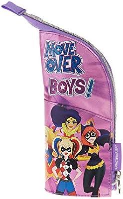 Superhero Girls- DC Super Hero Girls Estuche portatodo Vertical, Color Morado, 21 cm (Karactermanía 31124): Amazon.es: Juguetes y juegos