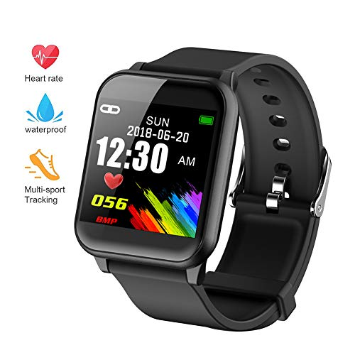 beitony Fitness Tracker, Waterproof Big Color Screen Activity Tracker with Heart Rate Monitor Watch, Fitness Watch with Calorie Counter Pedometer Sleep Blood Pressure Monitor for Kids Women Men