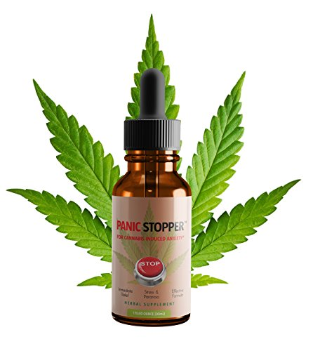 UPC 860335000805, Panic Stopper™ - Fast Acting Remedy for Cannabis Induced Anxiety - 1fl oz 30mL herbal extract - All Herbs Organic - Natural Relief for Stress, Anxiety, Panic Attacks - All Ingredients Natural