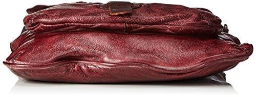 Taschendieb - Td0011bo, Bolsos bandolera Mujer, Rot (Bordeaux), 1x24.5x22 cm (B x H T)
