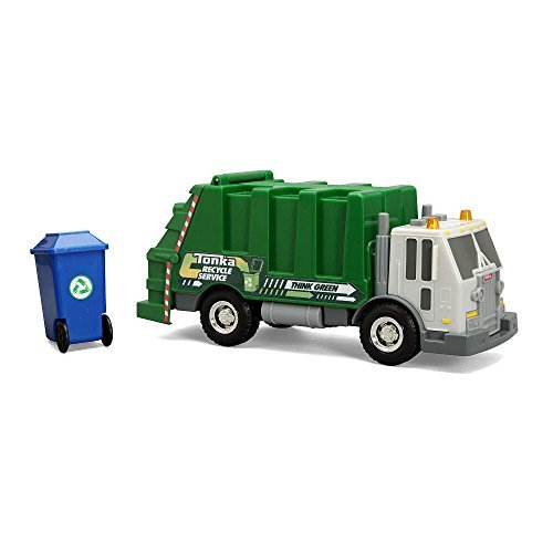 NEW! Tonka Rescue Force Garbage Truck w/Lights & Sound Green Sanitation -