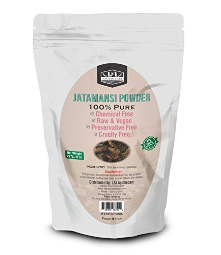 Price comparison product image L&I Apothecary 227 Grams / 8 Oz Jatmansi / Spikenard / Nardostachys jatamansi Powder, 100% Pure & natural. Food Grade Herb for supplements, hair care & skin care