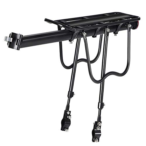 SONGMICS Bike Cargo Rack Carrier, Universal, Adjustable Bicycle Carrier, USBC02B (Renewed)