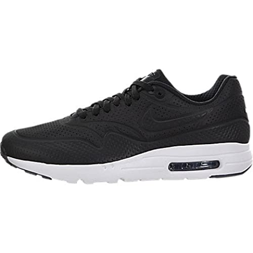 Nike Men's Air Max 1 Ultra Moire Black/Black/White Running Shoe 9.5 Men US