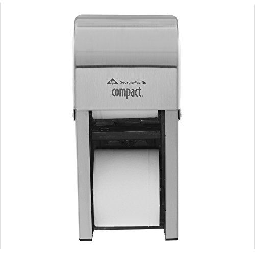 Georgia-Pacific Compact 56782 Stainless Steel Vertical Double Roll Bathroom Tissue Dispenser (1 (Vertical Compact)