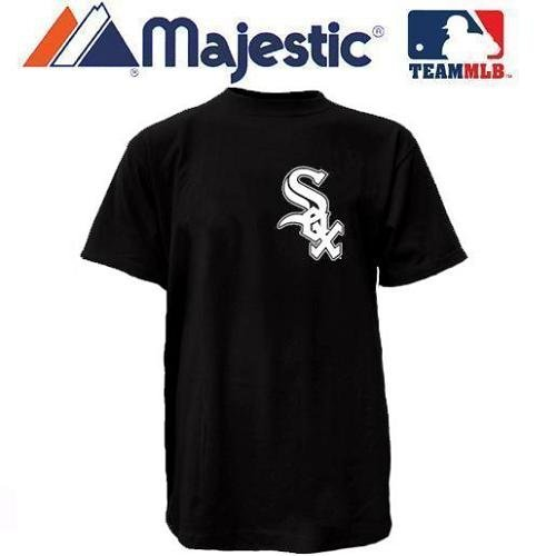 (Chicago White Sox (Adult XL) 100% Cotton Crewneck MLB Officially Licensed Majestic Major League Baseball Replica T-Shirt Jersey)
