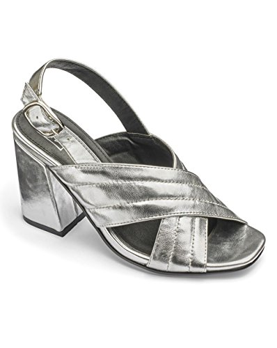 JD Williams Womens Sole Diva Crossover Sandals Silver UYdLTr