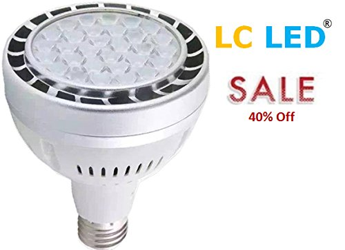 Par30 Metal (LC LED 250W PAR30 High Output Medium Bay LED Bulb, 40W 3600 Lumens, Daylight White (6500K), Metal Halide, CFL & Halogen PAR Replacement, Non-Dimmable)