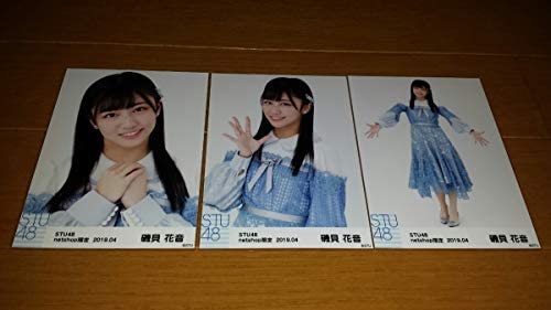 STU48 生写真 月別生写真 2019 4月 netshop限定 ランダム生写真 磯貝花音 3種コンプ