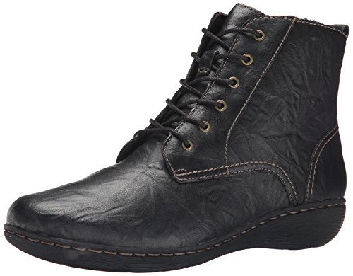 CLARKS Women's Fianna Holly, Black Leather, 7 M US (Clarks Outlet-shop Online)