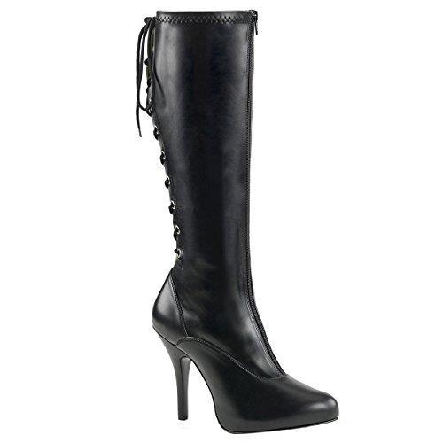 Higher Heels Pleaser Pink Label Womens Extra Size Laced up Boots Eve-208 Black Matte Black Matte kryAThn